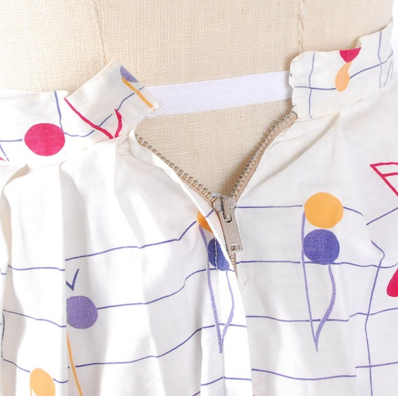 Vintage 50s Dress Set - 50s Novelty Print Skirt T… - image 9