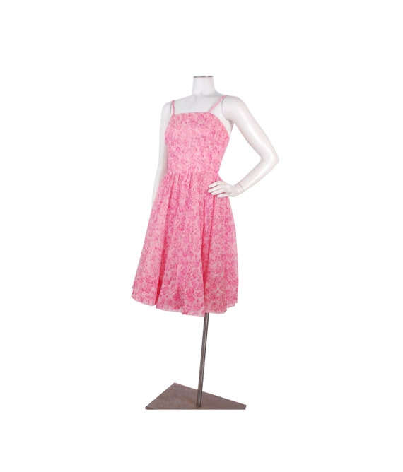 Vintage 50s Dress - 50s Party Dress - 50s Pink Dre
