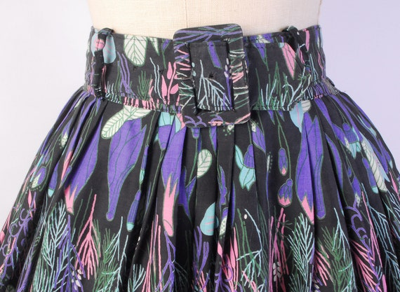 Vintage 50s Skirt - 50s Full Skirt - 50s Novelty … - image 3