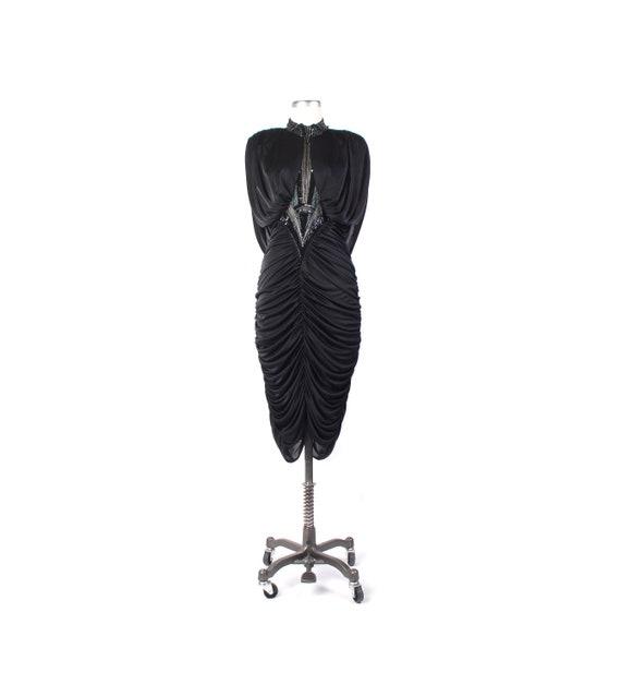 Vintage 80s Dress - 80s Coffin Dress - 80s Prom Dr