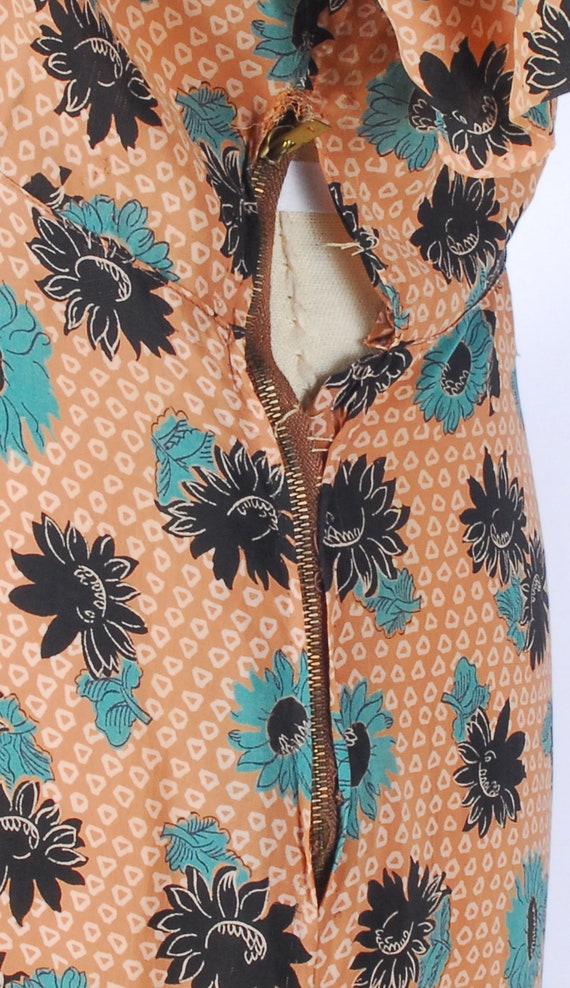 Vintage 40s Dress - 40s Rayon Dress - Cool Rayon … - image 7
