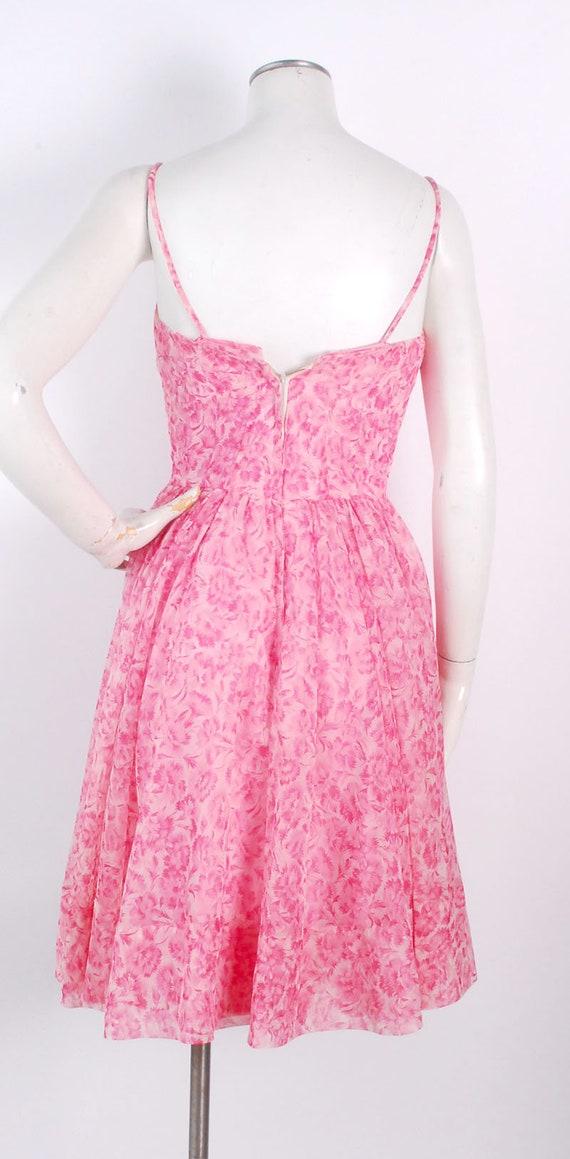 Vintage 50s Dress - 50s Party Dress - 50s Pink Dr… - image 6