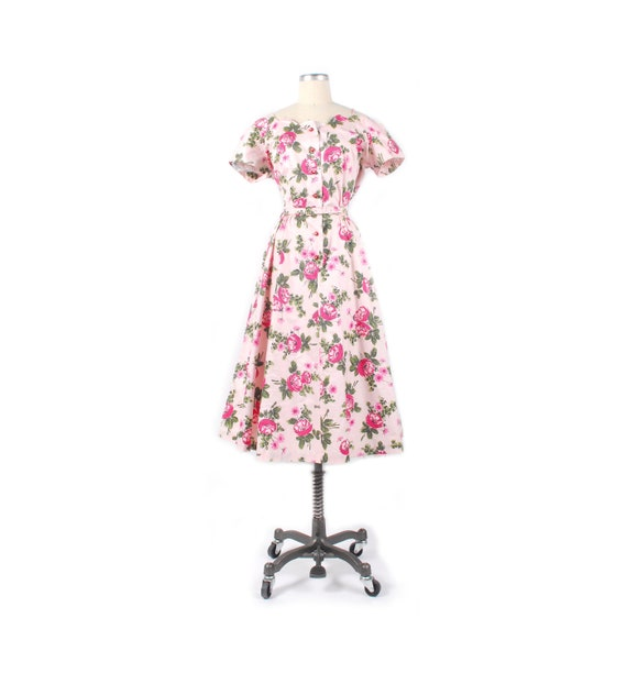 Vintage 50s Party Dress - 50s Off the Shoulder Dre