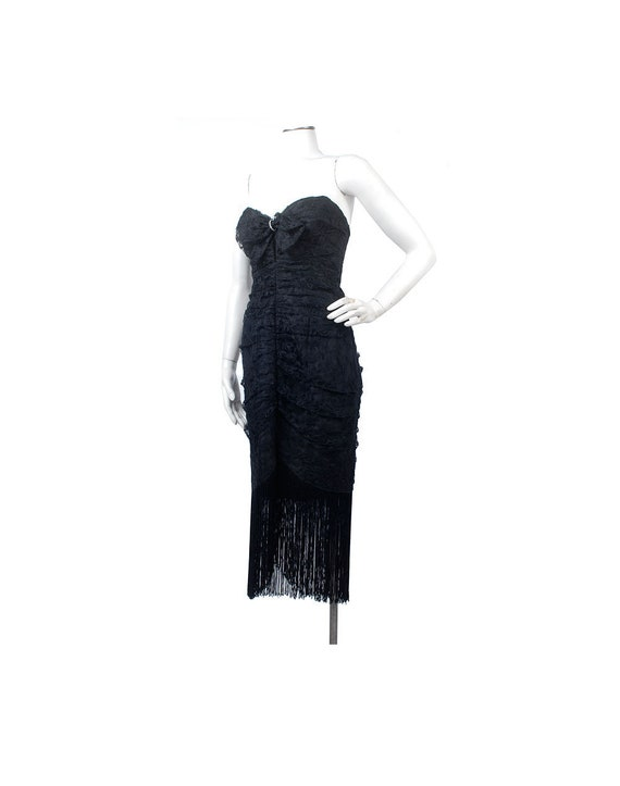 Vintage 80s Prom Dress - 80s Party Dress - Straple