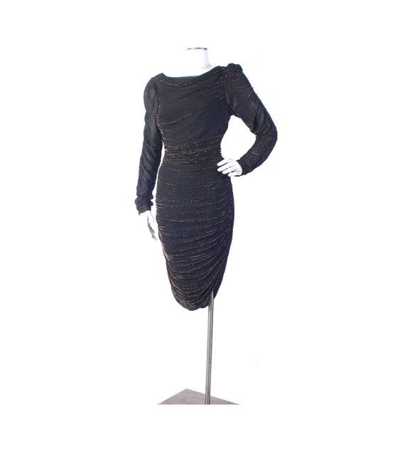 Vintage 80s Coffin Dress - 80s Party Dress - 80s P
