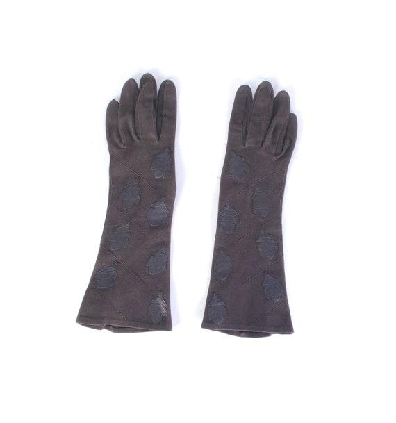Vintage 50s Gloves - 50s Suede Gloves - 50s Leathe