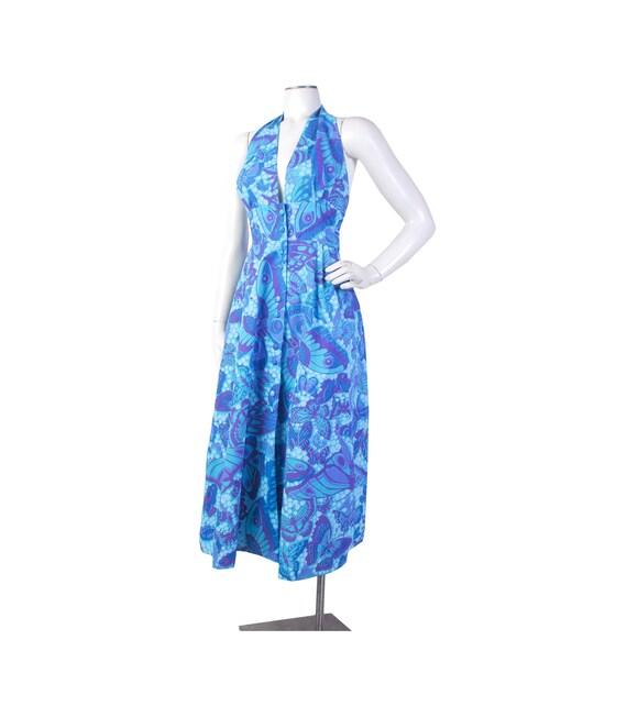 Vintage 70s Dress - 70s Halter Dress - 70s Novelty