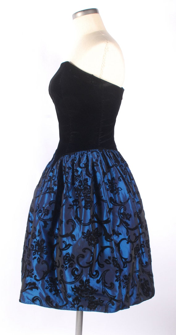 Vintage 80s Dress - 80s Prom Dress - Strapless Pr… - image 8