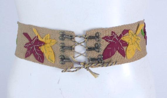 Vintage 40s Belt - 40s Wide Belt - 40s Corset Bel… - image 6