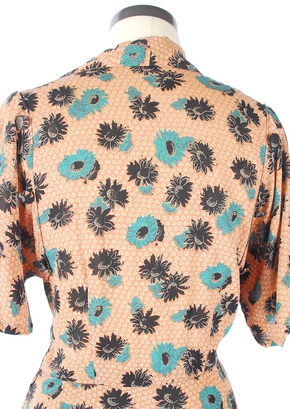 Vintage 40s Dress - 40s Rayon Dress - Cool Rayon … - image 10
