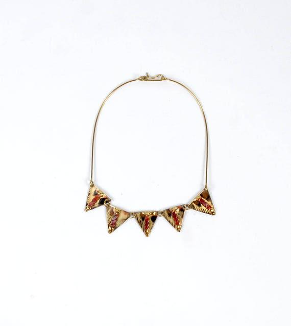 Vintage 70s Choker - Vintage 70s Necklace - 70s Br