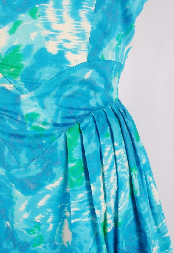 Vintage 50s Party Dress - 50s Floral Dress - 50s … - image 3