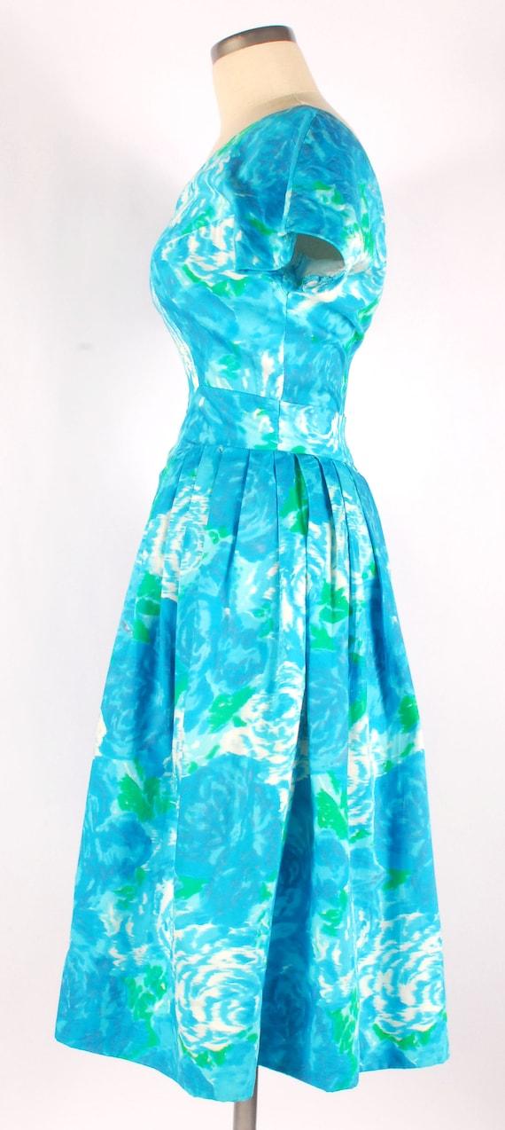 Vintage 50s Party Dress - 50s Floral Dress - 50s … - image 5
