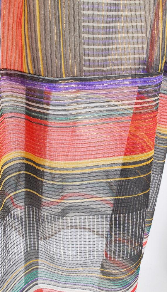 Vintage 70s Skirt - 70s Metallic Gauze Skirt - 70… - image 4
