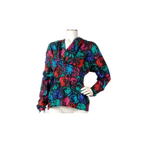 Vintage 80s Blouse - 80s Silk Blouse - St. Gillian