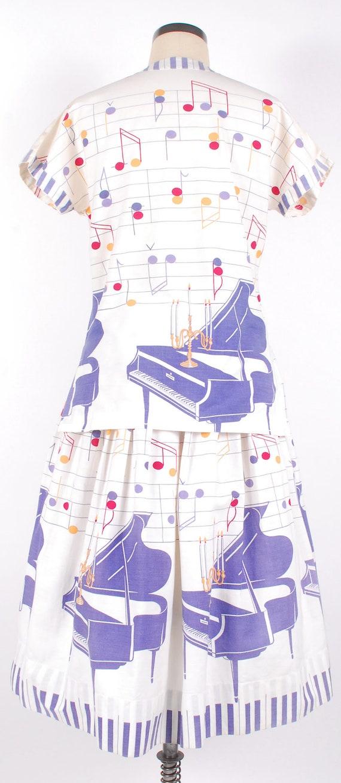 Vintage 50s Dress Set - 50s Novelty Print Skirt T… - image 7