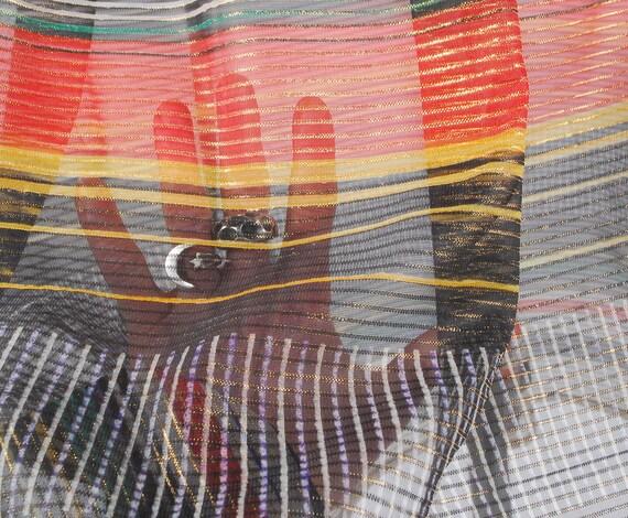 Vintage 70s Skirt - 70s Metallic Gauze Skirt - 70… - image 5