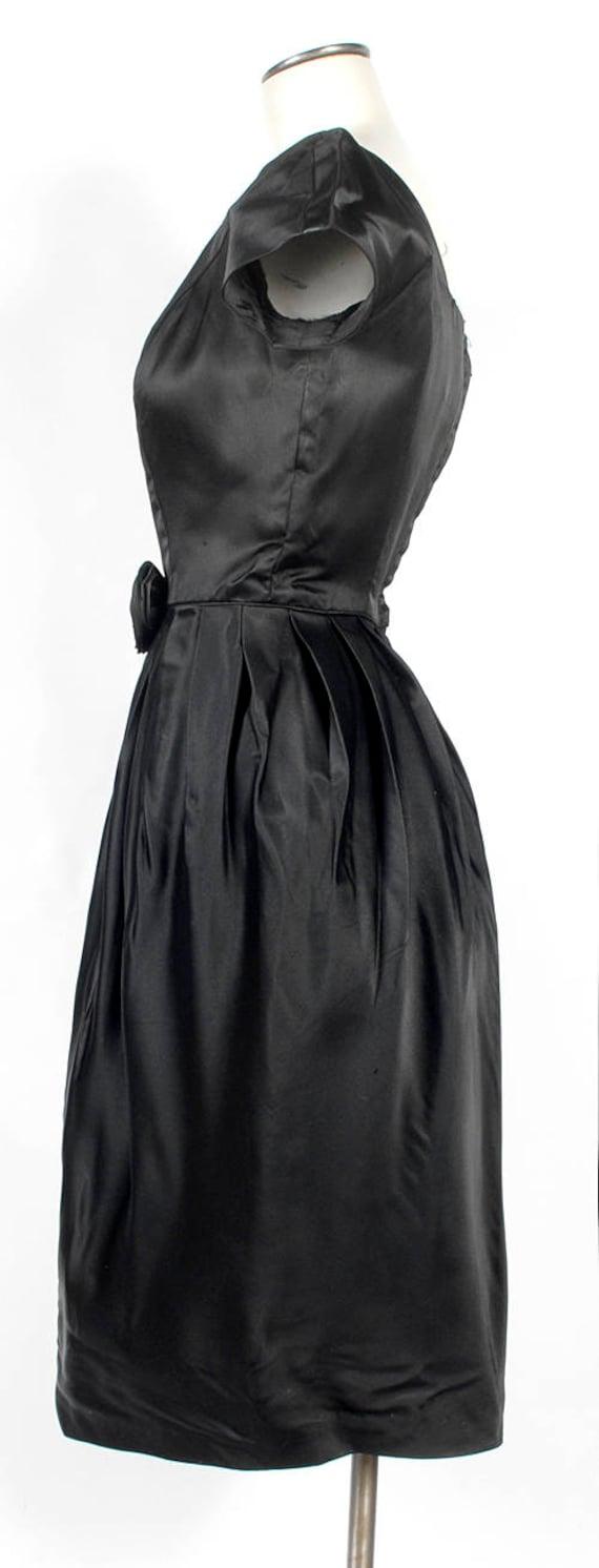 Vintage 50s Dress - 50s Party Dress -  - 50s Silk… - image 6