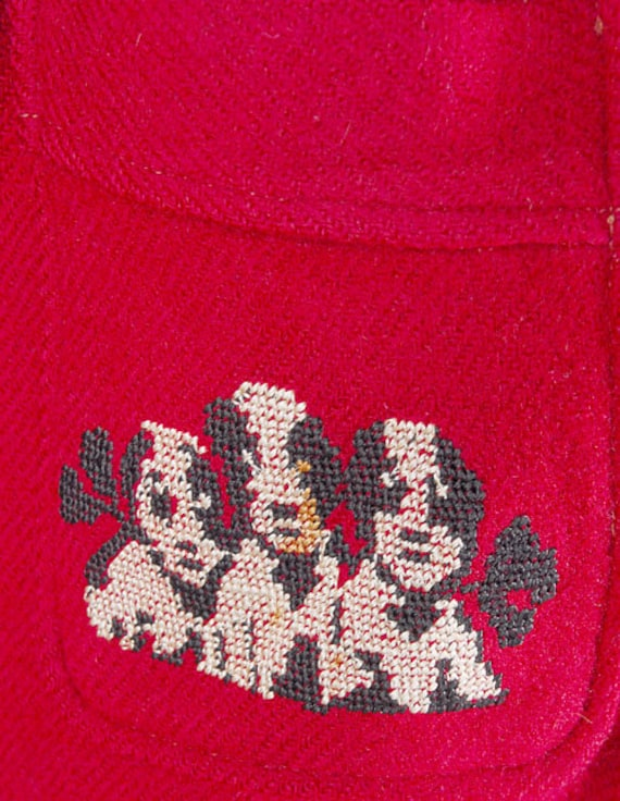 Vintage 40s Robe - 40s Novelty Robe - 40s Wool Ro… - image 6
