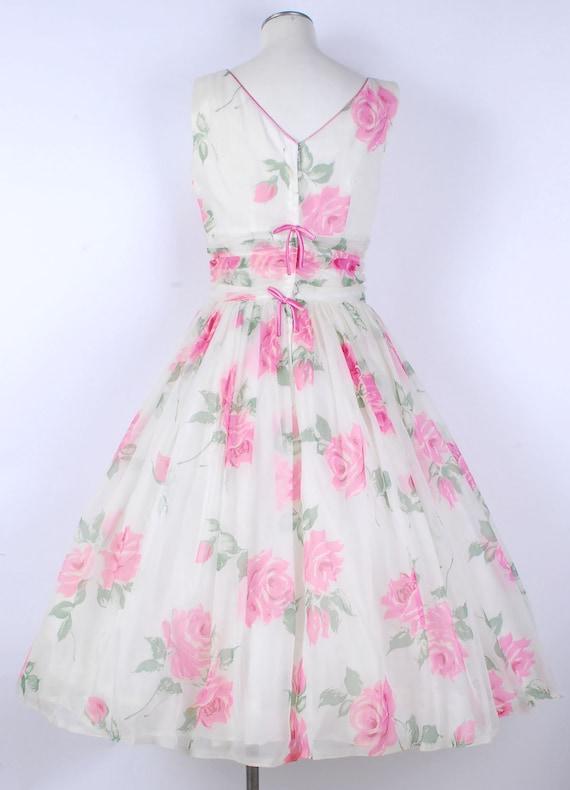 Vintage 50s Dress - 50s Party Dress - 50s Full Sk… - image 5