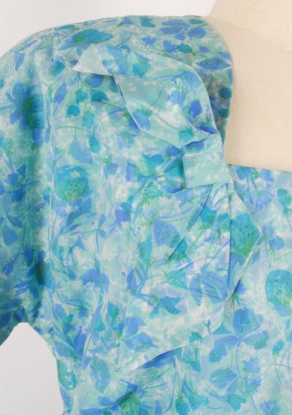 Vintage 50s Dress - 50s Nylon Dress - 50s XXL Dre… - image 4