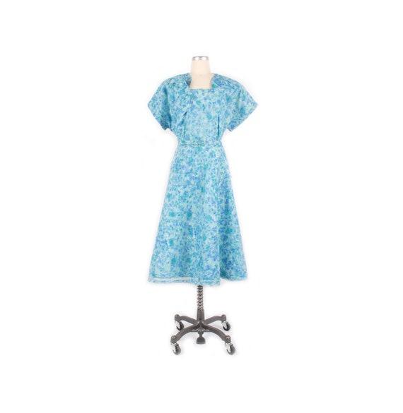Vintage 50s Dress - 50s Nylon Dress - 50s XXL Dre… - image 1