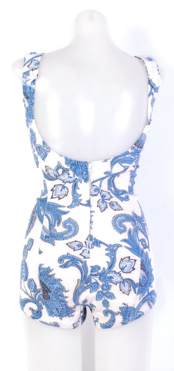 Vintage 50s Swimsuit - 50s Paisley Swimsuit - 50s… - image 9