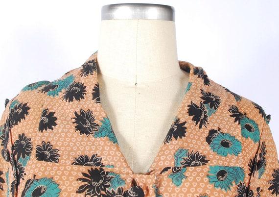 Vintage 40s Dress - 40s Rayon Dress - Cool Rayon … - image 4