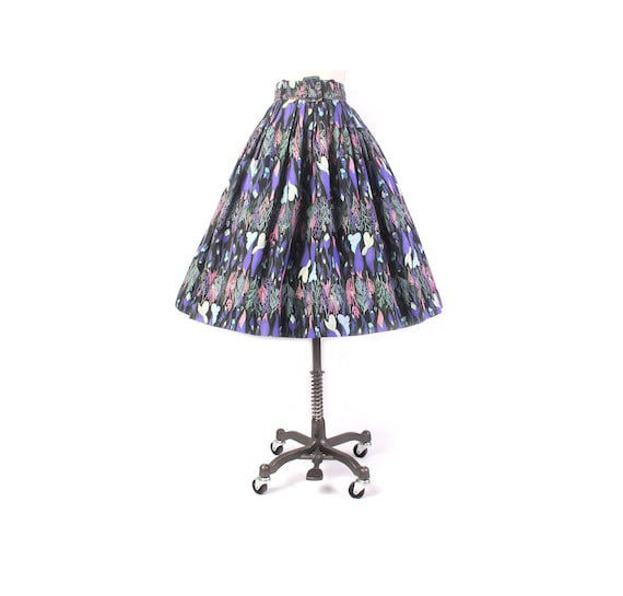Vintage 50s Skirt - 50s Full Skirt - 50s Novelty … - image 1