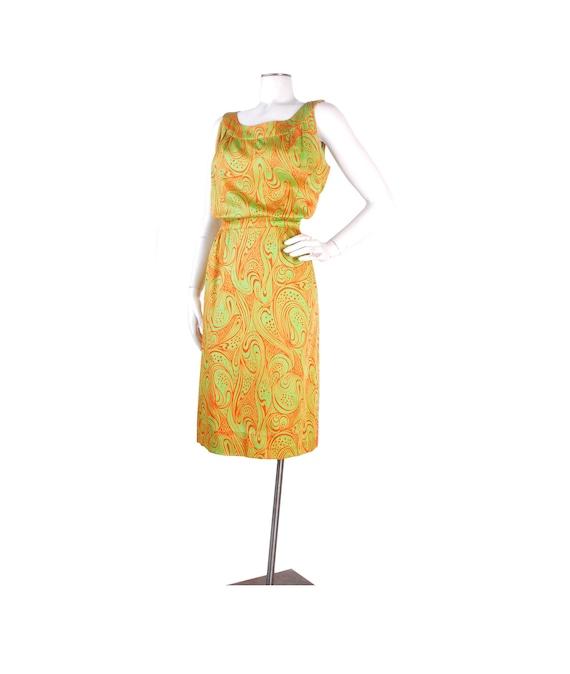 Vintage 60s Dress - 60s Silk Dress - 60s Psychedel