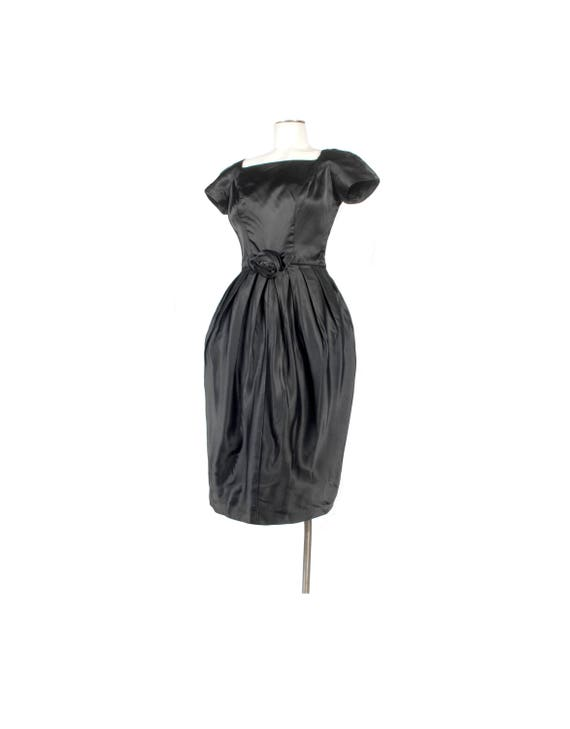 Vintage 50s Dress - 50s Party Dress -  - 50s Silk