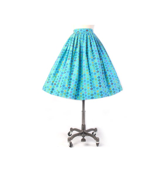 Vintage 50s Skirt - 50s Full Skirt - 50s Atomic Pr