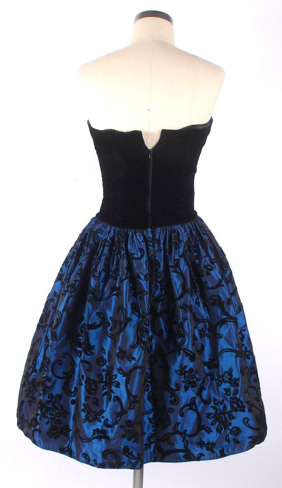Vintage 80s Dress - 80s Prom Dress - Strapless Pr… - image 9