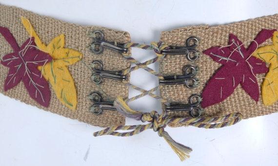 Vintage 40s Belt - 40s Wide Belt - 40s Corset Bel… - image 7