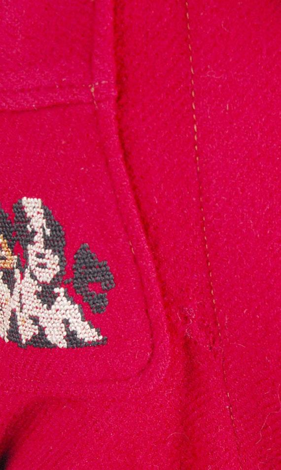Vintage 40s Robe - 40s Novelty Robe - 40s Wool Ro… - image 7