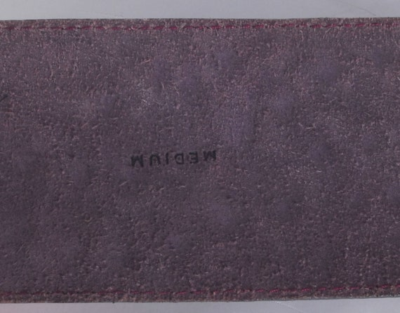 Vintage 80s Belt - 80s Wide Belt - 80s Purple Lea… - image 4