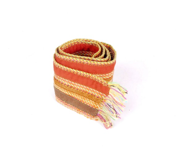 Vintage 70s Belt - 70s Woven Belt - 70s Boho Belt