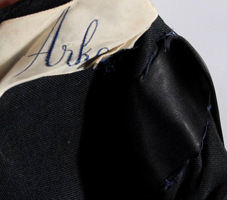 50s Party Dress One Shoulder Dress Black Chiffon Dress 60s Party Dress Vintage 60s Dress Silk Chiffon Dress XS Vintage 50s Dress