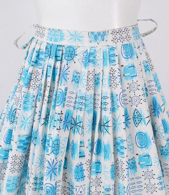 Vintage 50s Skirt - 50s Novelty Print Skirt - 50s… - image 2