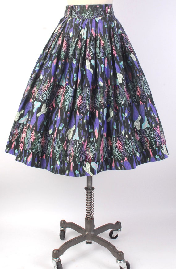 Vintage 50s Skirt - 50s Full Skirt - 50s Novelty … - image 7