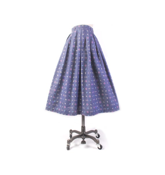 Vintage 50s Skirt - 50s Full Skirt - 50s Novelty P