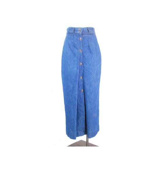 Vintage 70s Skirt - Vintage 80s Skirt - 70s Denim