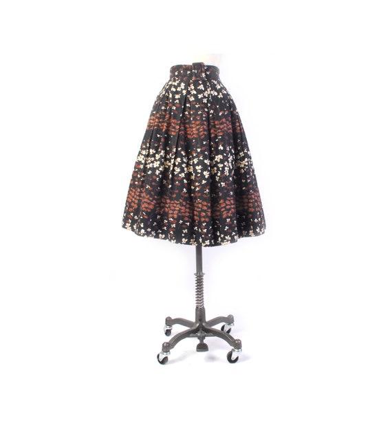 Vintage 50s Skirt - 50s Full Skirt - 50s Floral Sk