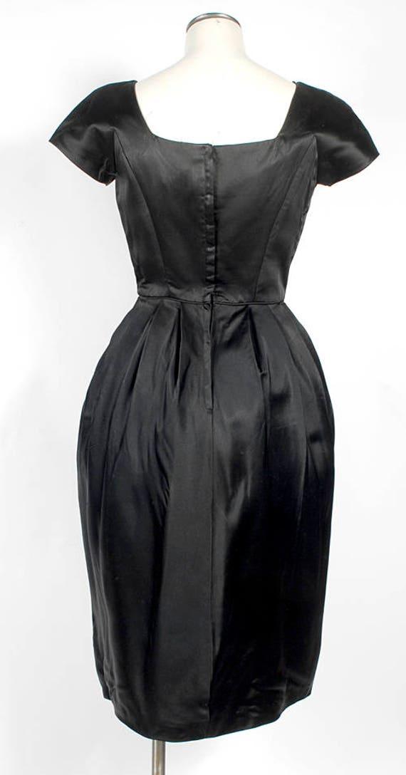 Vintage 50s Dress - 50s Party Dress -  - 50s Silk… - image 7