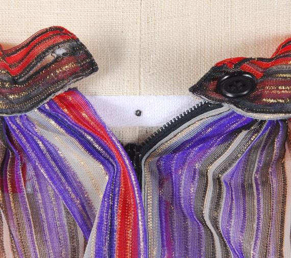 Vintage 70s Skirt - 70s Metallic Gauze Skirt - 70… - image 7