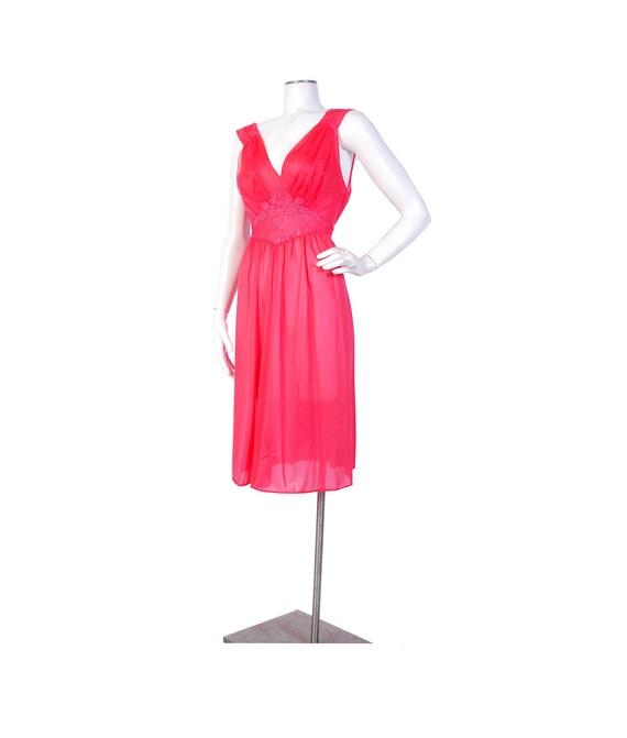 Vintage 50s Nightgown - Vintage Nylon Nightgown -