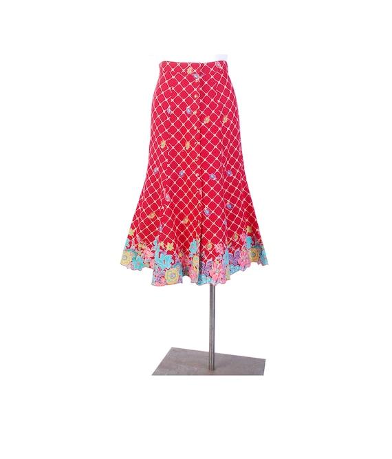 Vintage 70s Skirt - 70s Does 30s Skirt - 70s Flora