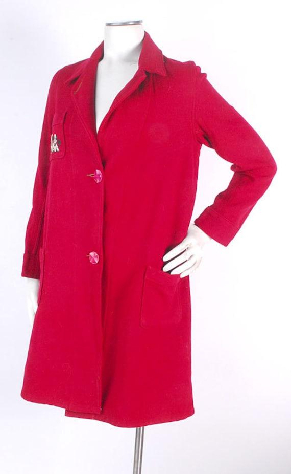 Vintage 40s Robe - 40s Novelty Robe - 40s Wool Ro… - image 3