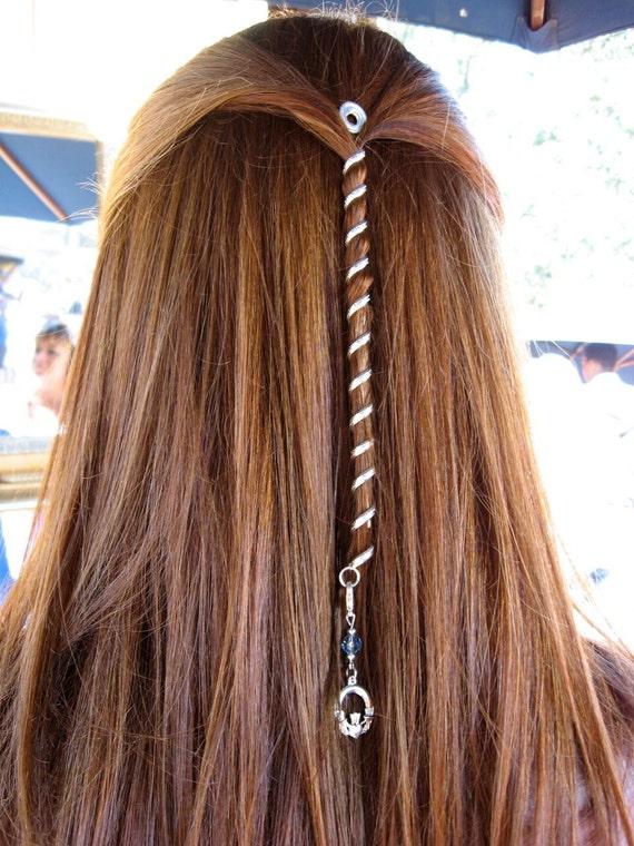 6 Hair Twister Mini Rainbow Metal Spiral Hair Wrap Etsy