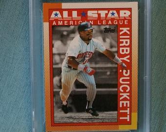 Kirby Puckett 1990 Topps All Star baseball card